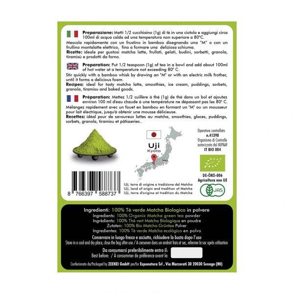 Tè Matcha Qualità Premium Etichetta